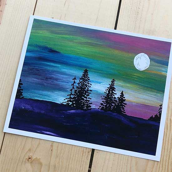 8x10 print of landscape illustration