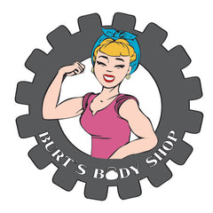Burts Body Shop logo design