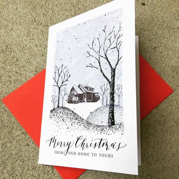 Printing 5x7 folded card for Christmas
