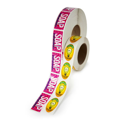 Semi-Gloss Custom Label Rolls