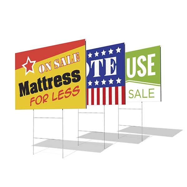 Examples of Yard Signs