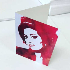 Custom folded card on matte