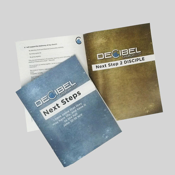 Full Size Matte Booklets for Decibel Church