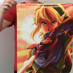 Large poster of Nintendo Link Fan Art