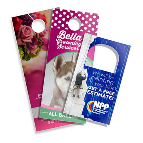 Three sizes of door hangers