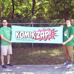 Vinyl banner printed for Komik Zap