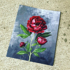 Custom watercolor print of a rose