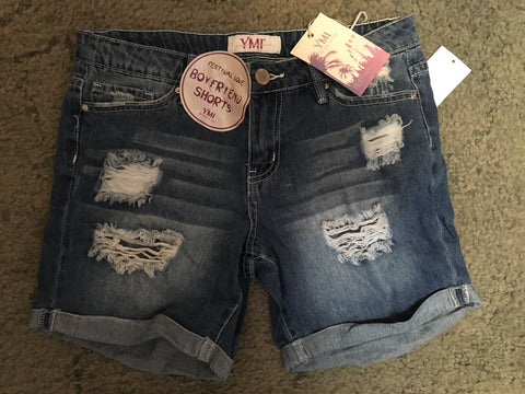 Boyfriend distressed shorts