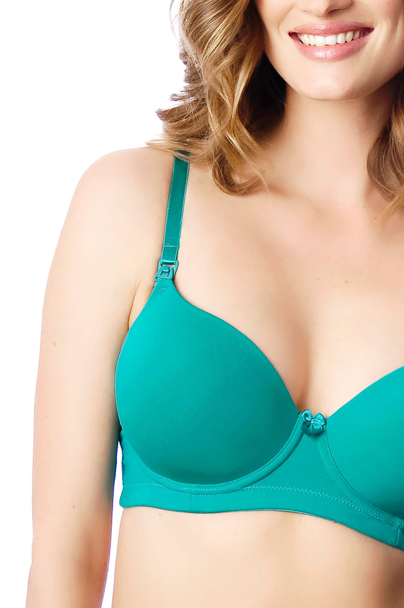 Forever Yours Emerald Nursing Bra