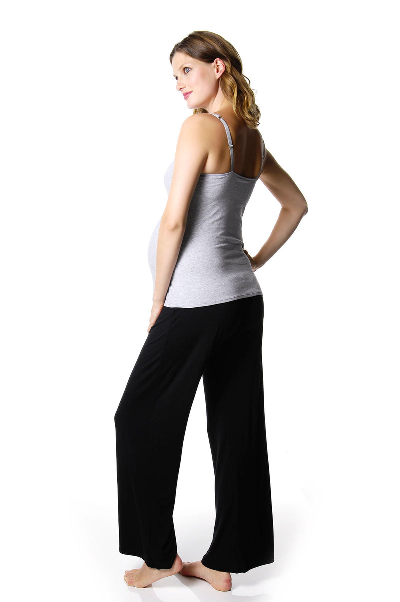HOTMILK MY EVERYDAY CAMISOLE GREY WITH MY DARLING BLACK LOUNGE PANTS