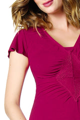 Hotmilk Lingerie Cerise Twilight nursing nightie