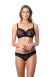 Temptation Black Nursing bra with matching black Temptation bikini for maternity