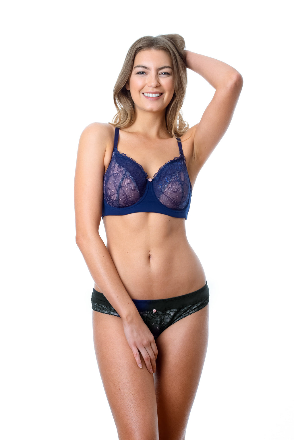 TEMPTATION NAVY NURSING BRA - FLEXI UNDERWIRE