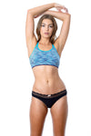 Vitality nursing sports bra with show off black knickers