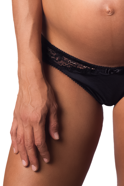 ECLIPSE BLACK BIKINI BRIEF