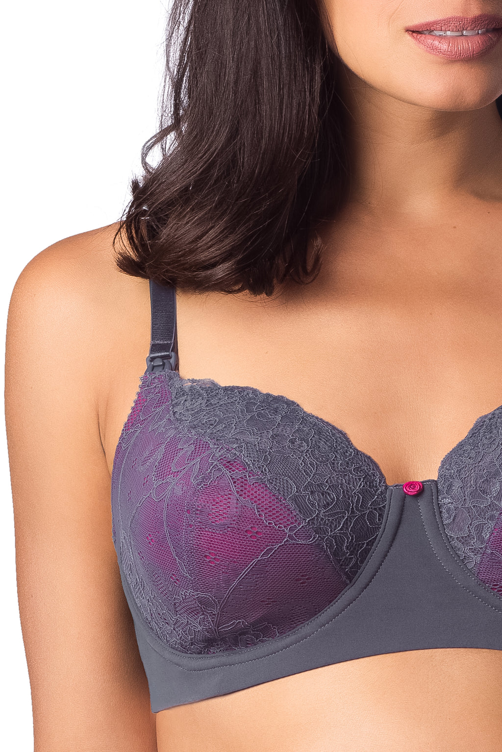 TEMPTATION GRAPHITE NURSING BRA - FLEXI UNDERWIRE
