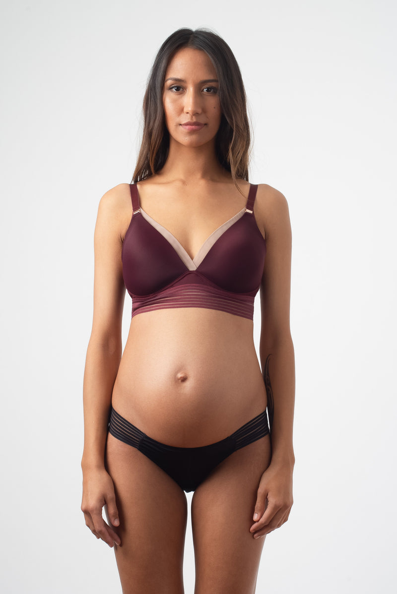 AMBITION TRIANGLE PLUM CONTOUR NURSING BRA - WIREFREE