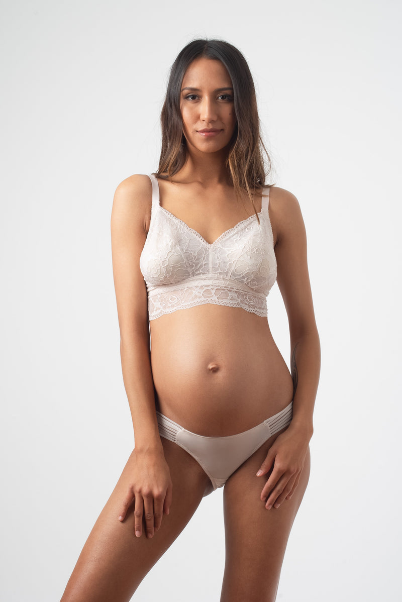 HOTMILK PROJECTME Heroine Bralette Shell - Maternity PREGNANCY WITH AMBITION SHELL BRAZILIAN BRIEF