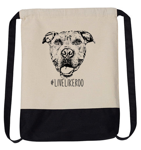 #LiveLikeRoo - Cotton Canvas Drawstring Backpack