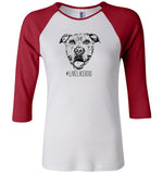 #LiveLikeRoo - Women's FITTED Three-Quarter Raglan Sleeve T-Shirt