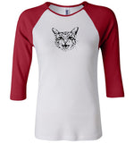 Women's FITTED Three-Quarter Raglan Sleeve T-Shirt