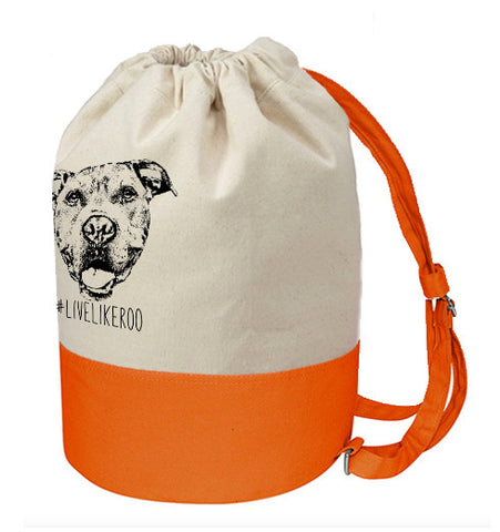 #LiveLikeRoo - Cotton Canvas Beach Duffel Bag