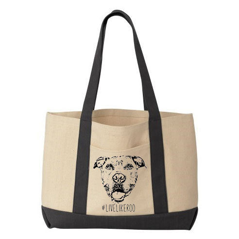 #LiveLikeRoo - Cotton Canvas Tote Bag