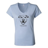 #LiveLikeRoo - Women's FITTED V-Neck T-Shirt