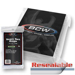 BCW Resealable Team Set Bags - 100 ct. Pack