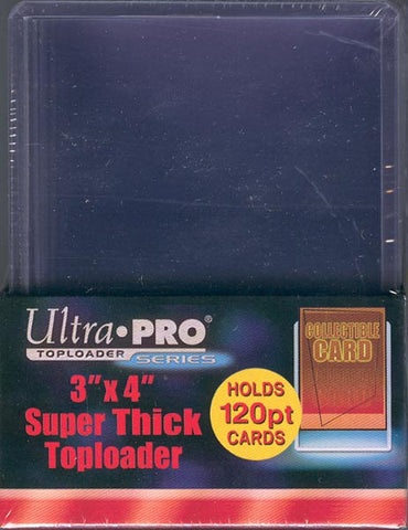 Ultra Pro 3x4 Thick Topload 120pt Card Holder - 10ct Pack
