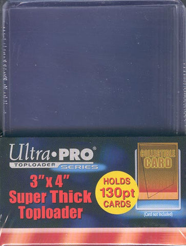 Ultra Pro 3x4 Super Thick Topload 130pt Card Holder - 10ct Pack
