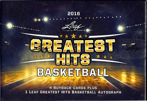 2016 Leaf Greatest Hits Basketball 1 Box Random Team Break #25