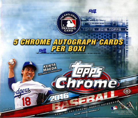 2016 Topps Chrome JUMBO Baseball - Personal Box