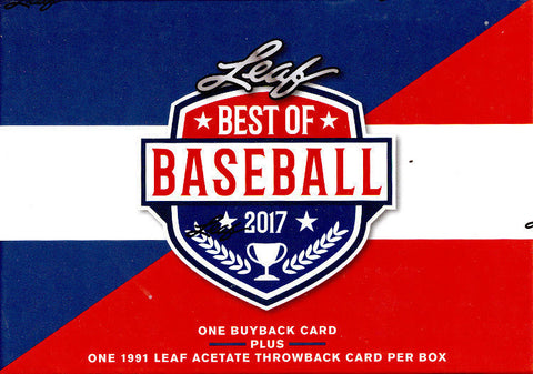 2017 Leaf Best of Baseball 5 Box Case Random Team Break #8