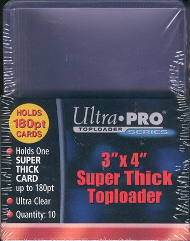 Ultra Pro 3x4 Super Thick Topload 180pt Card Holder - 10ct Pack
