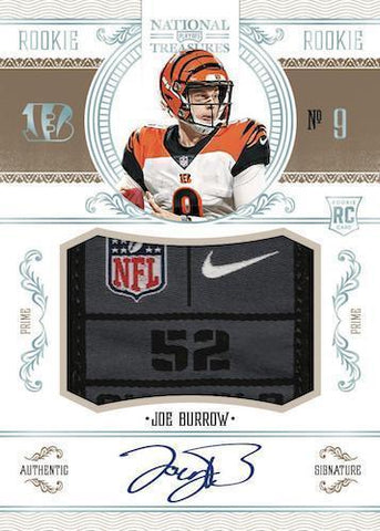 2020 Panini National Treasures Football 1 Box Left Side Serial Number Break #5 -  From a Fresh Case