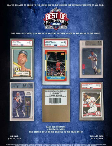 2020 Leaf Best of Multi-Sport Premium Edition 1 Box Random Letter Break #51