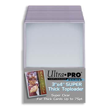 Ultra Pro 3x4 Thick Topload 75pt Card Holder - 25ct Pack