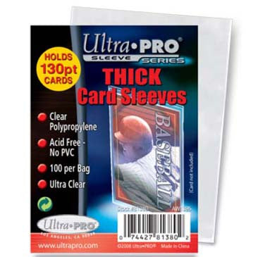 Ultra Pro Thick Card Sleeves - 100 ct. Pack