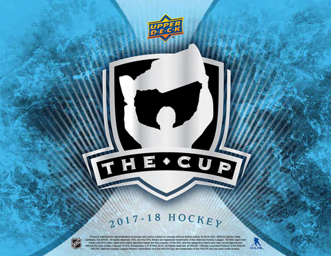 "2017-18 Upper Deck THE CUP Hockey 6 Box Case Random Teams #6 + ""HO HO HO PROMO"" SPOT"