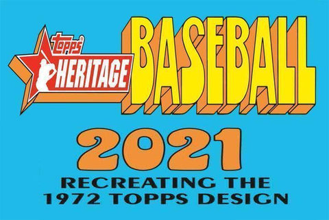 2021 Topps Heritage Baseball Hobby 3 Box Random Teams #7