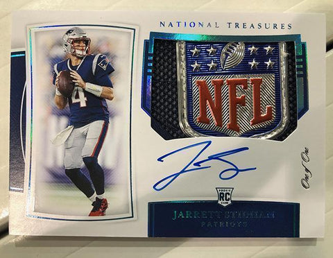 2019 Panini National Treasures Football 1 Box Left Side Serial Number Break #47