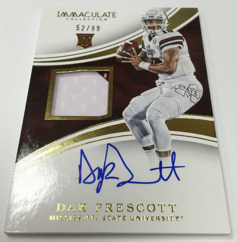 2016 Panini Immaculate Collegiate Football 5 CASE Random Left Side Number Break #1