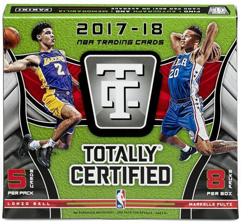 2017-18 Panini Totally Certified Basketball 8 Box Case Pick Your Team #4