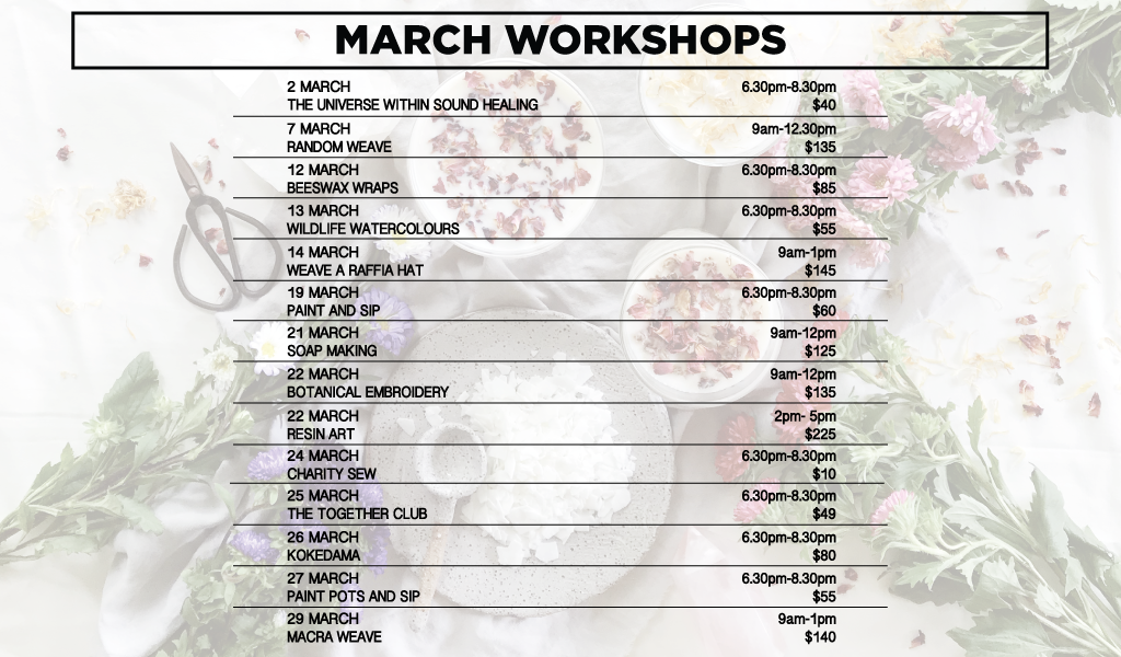 March Workshops