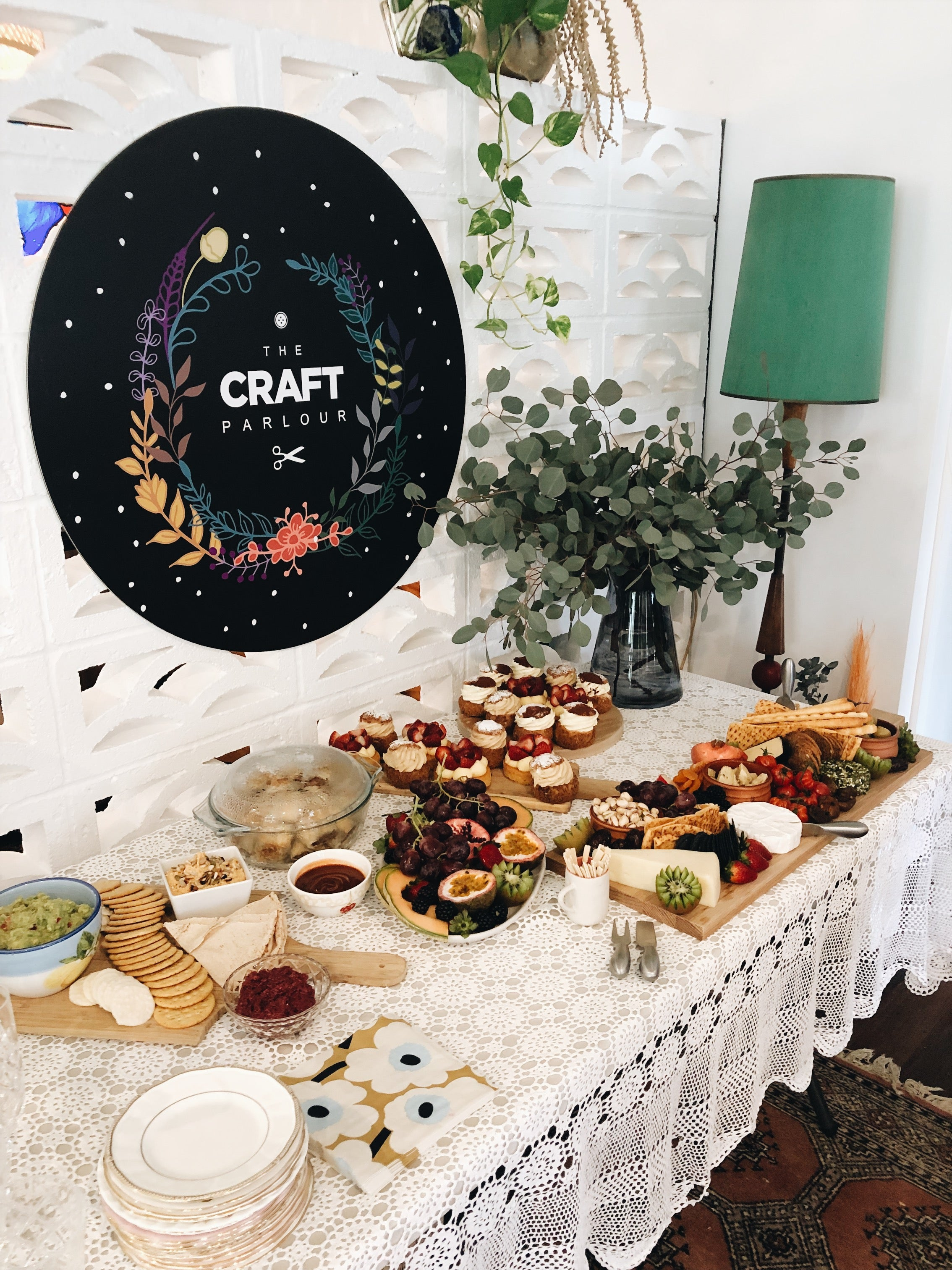 Epic food platters for The Craft Parlour workshop