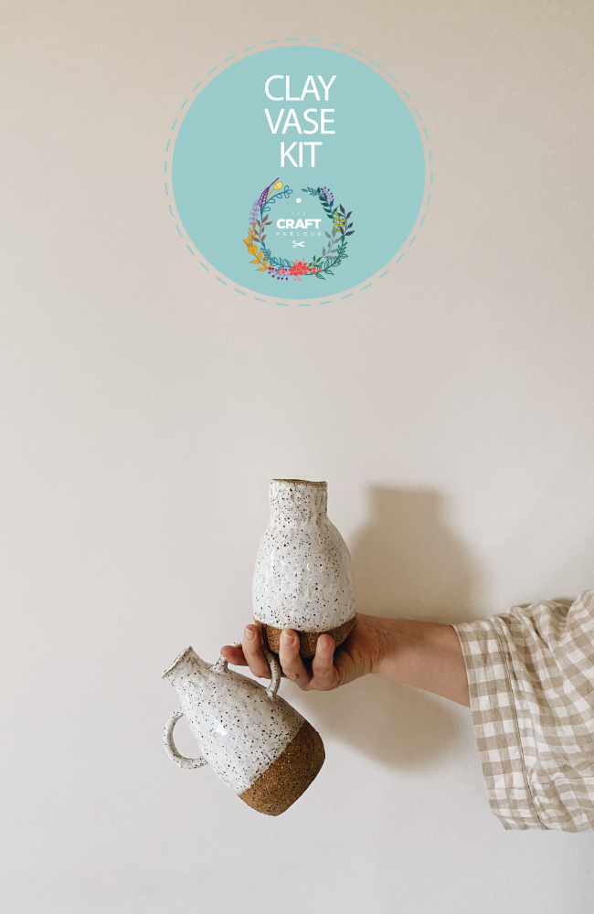 Two beautiful handmade clay vases