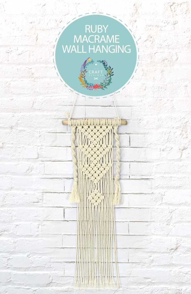 Cream macrame wall hanging created at The Craft Parlour Gold Coast workshop