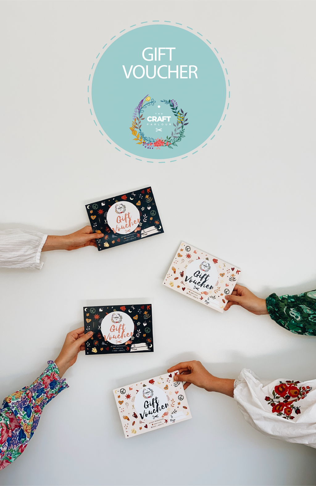 The Craft Parlour creative workshop gift vouchers