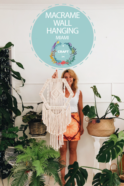 JUNE 15TH - MACRAME HEXAGON WALL HANGING